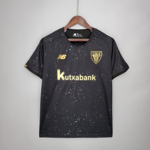 21-22 Bilbao Goalkeeper Black Fans Jersey