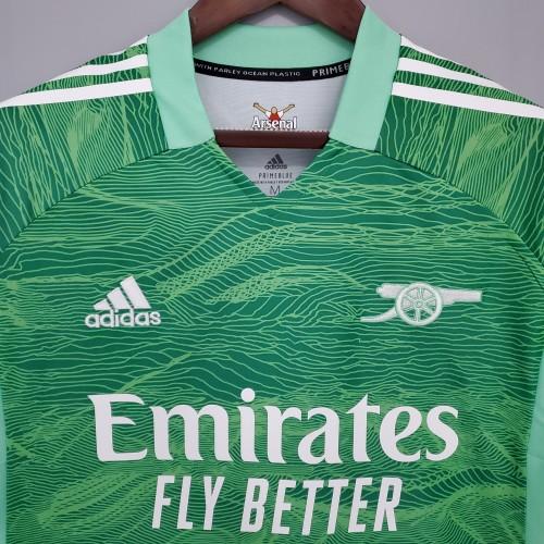 21-22 Arsenal Green Goalkeeper Jersey