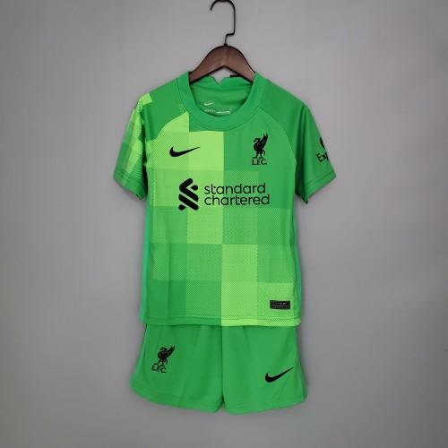 21-22 Liverpool Goalkeeper Green Kid Kit