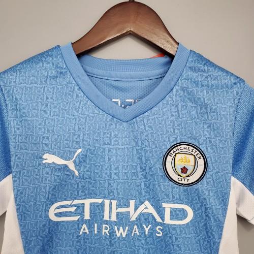 21-22 Man City Home Blue Kid Kit