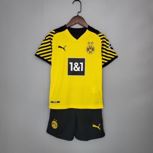 21-22 Dortmund Home Yellow Kid Kit