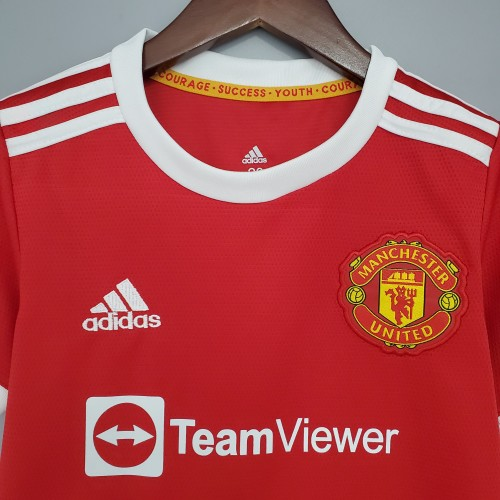 21-22 Manchester United Home Red Kid Kit