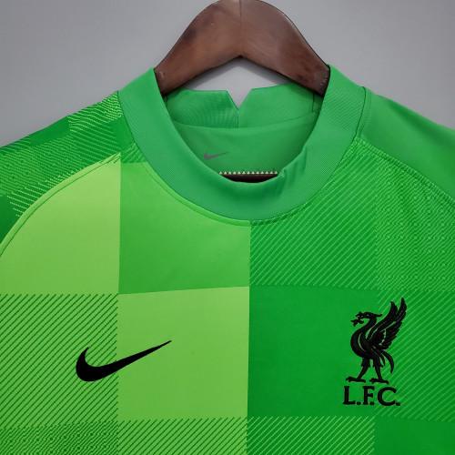 21-22 Liverpool Green Goalkeeper Fans Jersey