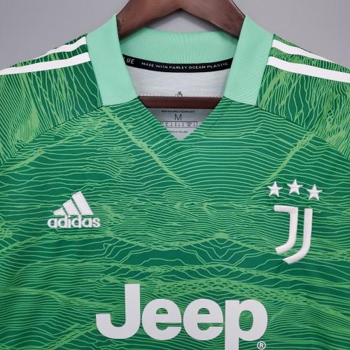 21-22 Juventus Green Goalkeeper Fans Jersey