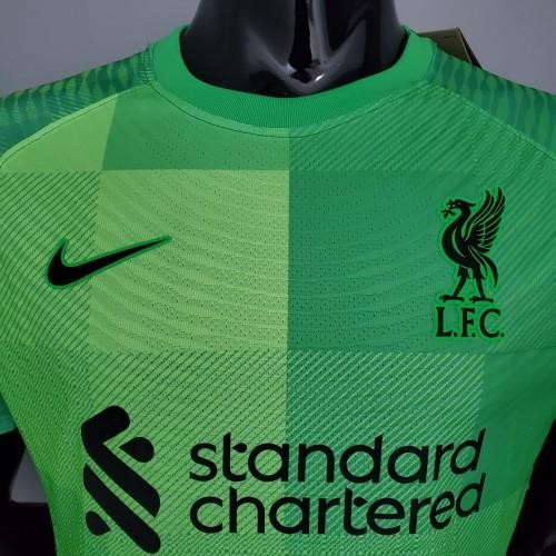 21-22 Liverpool Green Goalkeeper Player Jersey