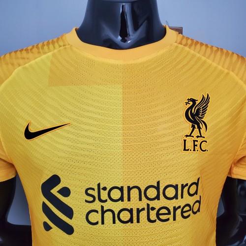 21-22 Liverpool Yellow Goalkeeper Player Jersey