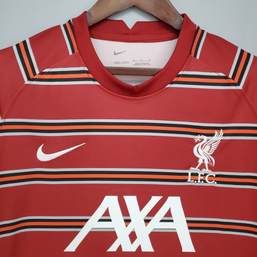 21-22 Liverpool  Red Training  Fans Jersey