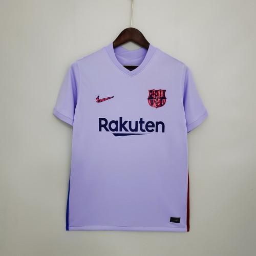 21-22 Barcelona Away Purple Fans Jersey