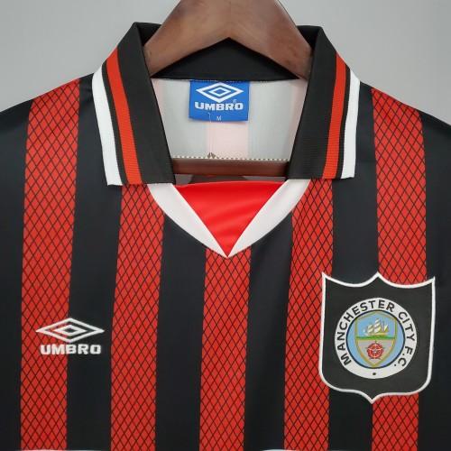 94-96 Manchester City Away  Retro Jersey