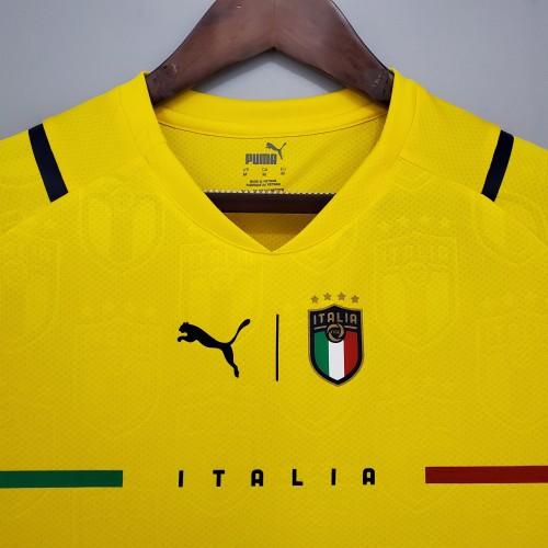 2021 Italy Goal Keeper Yellow Jersey
