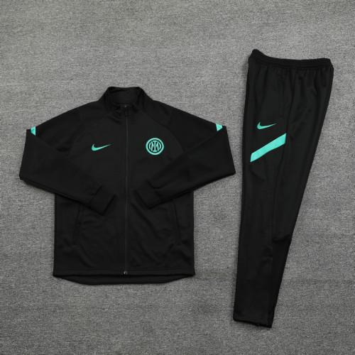 21-22 Inter Milan Black-Green Jacket Suit