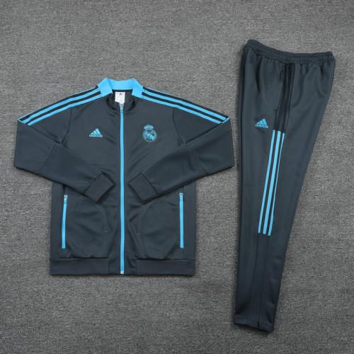 21-22 Real Madrid Grey Jacket Suit