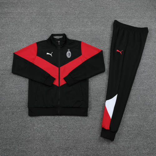 21-22 AC Milan Red and black Jacket Suit