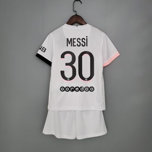 21-22 PSG Away White Kid Kit 30#MESSI