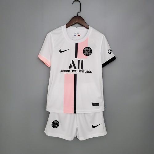21-22 PSG Away White Kid Kit