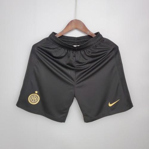 21-22 Inter Milan Home Black Shorts