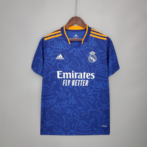 21-22 Real Madrid Away Fans Jersey