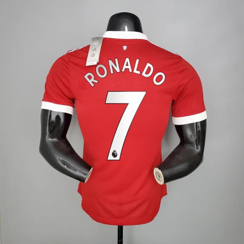 21-22  Manchester United Home Player Jersey with 7#RONALDO