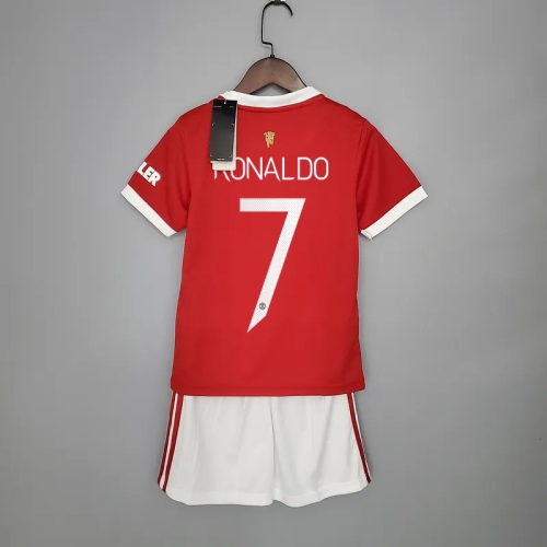 21-22 Manchester United Home Red Kid Kit with 7#RONALDO