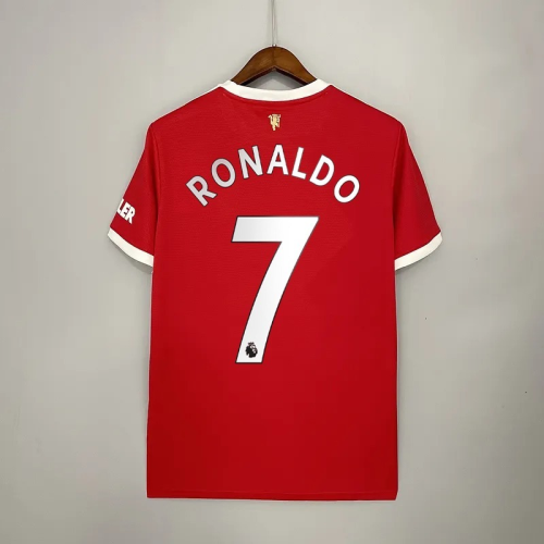 21-22 Manchester United Home Fans Jersey with 7#RONALDO