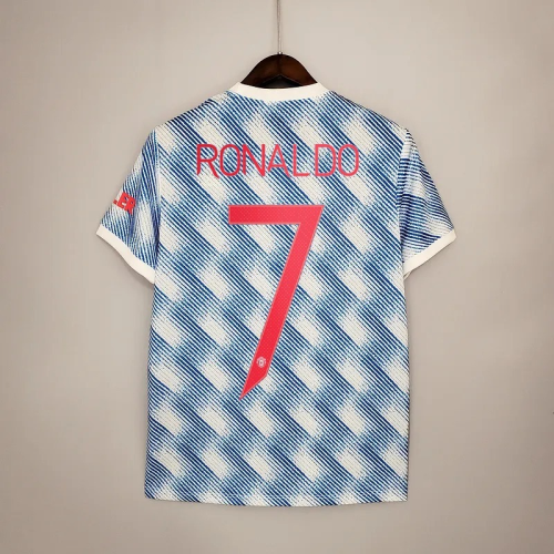 21-22 Manchester United Away Fans Jersey with 7#RONALDO