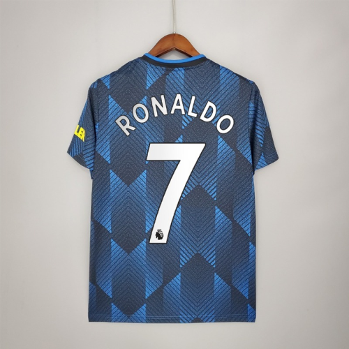 21-22 Manchester United Third Fans Jersey with 7#RONALDO