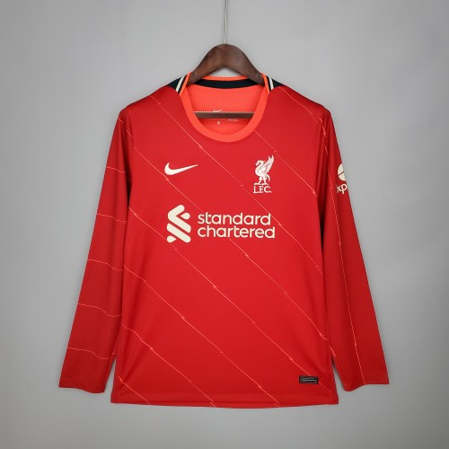21-22 Liverpool Home Red Long Sleeve Jersey