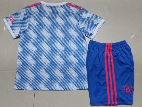 21-22 Manchester United Away  Kid Kit