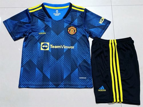 21-22 Manchester United Third  Kid Kit