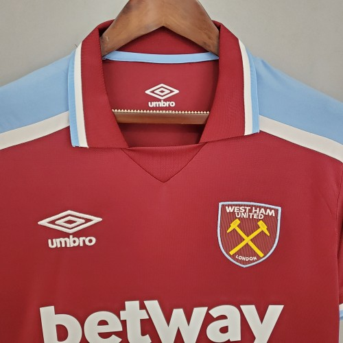 21-22 West Ham United Home Fans Jersey