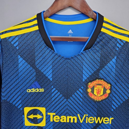 21-22 Manchester United Third Long Sleeve Jersey