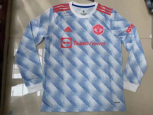 21-22 Manchester United Away Long Sleeve Jersey