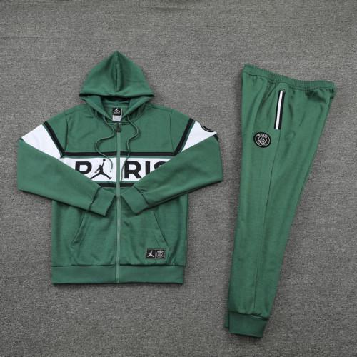 21-22 PSG Jordan Green Hoodie Suit