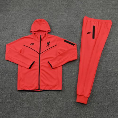 21-22 Liverpool Orange Hoodie Suit