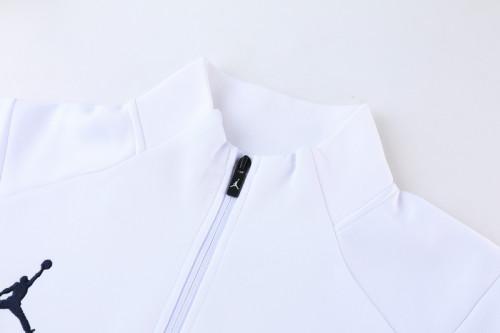 21-22 PSG Jordan White-Red Jacket Suit