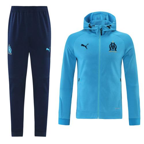 21-22 Marseille Blue Hoodie Suit
