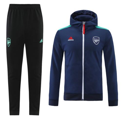 21-22 Arsenal Royal Blue Hoodie Suit