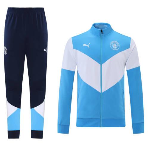 21-22 Man City Blue-White Jacket Suit