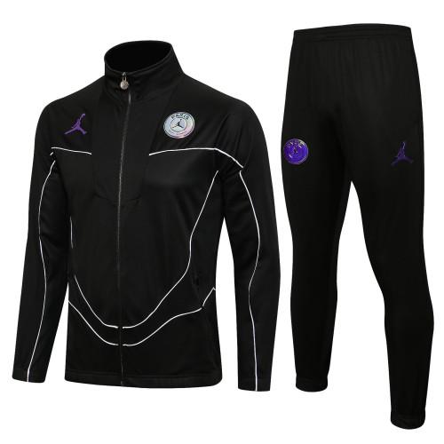 21-22 PSG Jordan Black Jacket Suit
