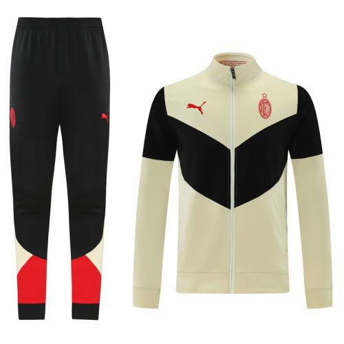 21-22 AC Milan Yellow-Black Jacket Suit