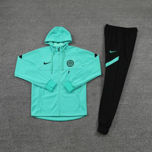 21-22 Inter Milan Green Hoodie Suit