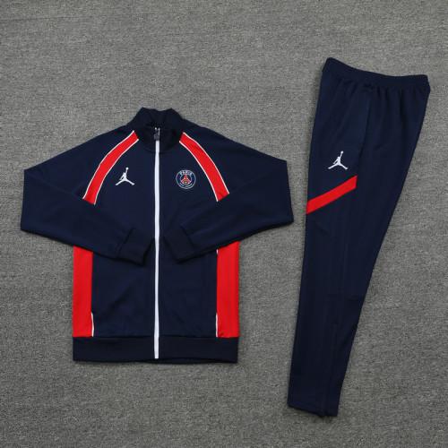 21-22 PSG Jordan Blue-Red Jacket Suit