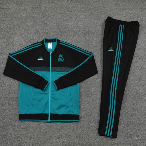 21-22 Real Madrid Green-Black Jacket Suit