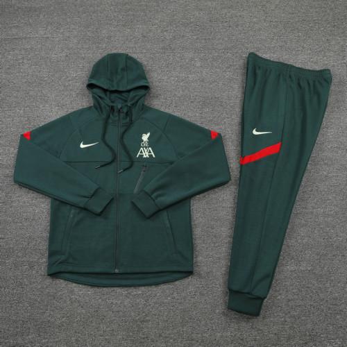 21-22 Liverpool Dark Green Hoodie Suit