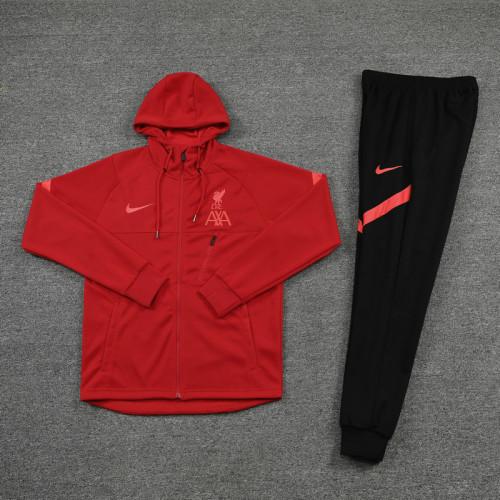 21-22 Liverpool Red Hoodie Suit