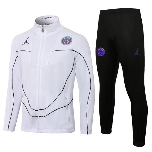 21-22 PSG-Jordan White Jacket Suit