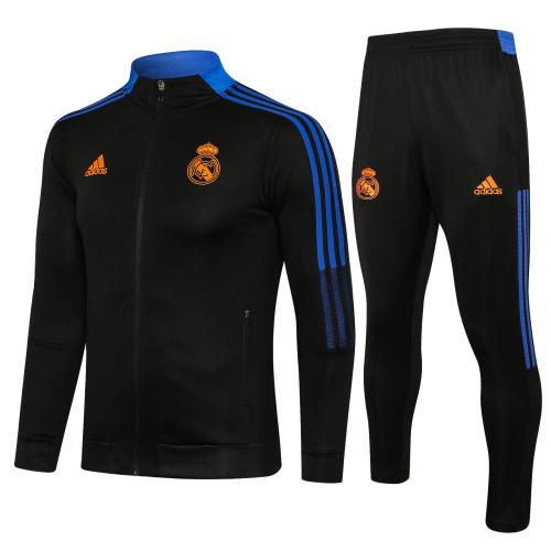 21-22 Real Madrid Black-Blue Jacket Suit
