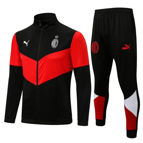 21-22 AC Milan Black-Red Jacket Suit