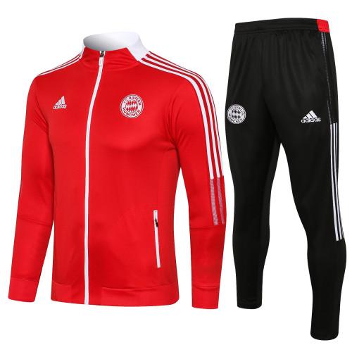 21-22 Bayern Munich Red Jacket Suit