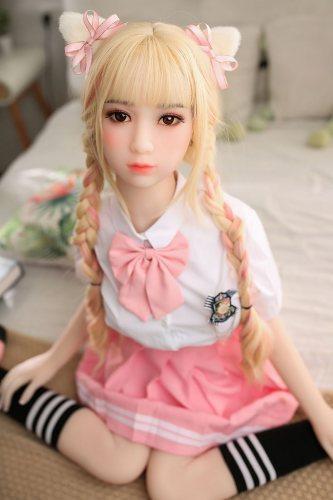 〖藤原友子〗138cm D-cup 幼い系リアルドール Fire Doll#12